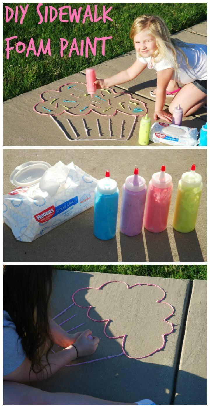DIY Amazing Sidewalk Foam Paint