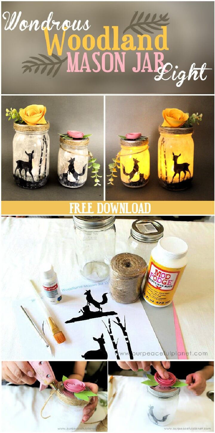 DIY Amazing Woodland Mason Jar Light Gifts