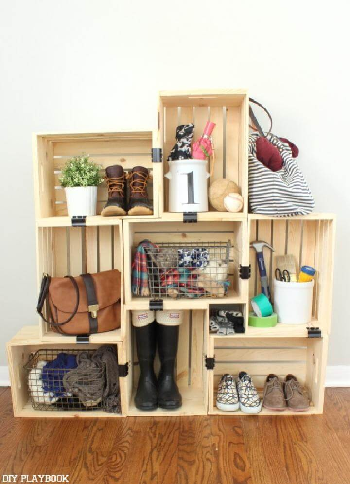 DIY Amazingly Beautiful Crate Storage and Display Unit