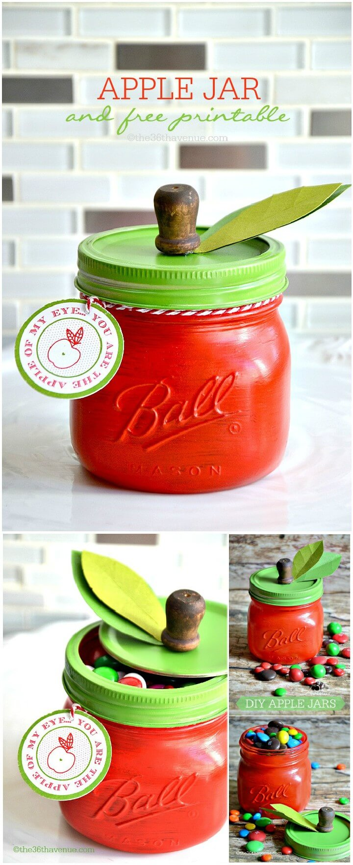 DIY Apple Mason Jar Gift with Free Printables