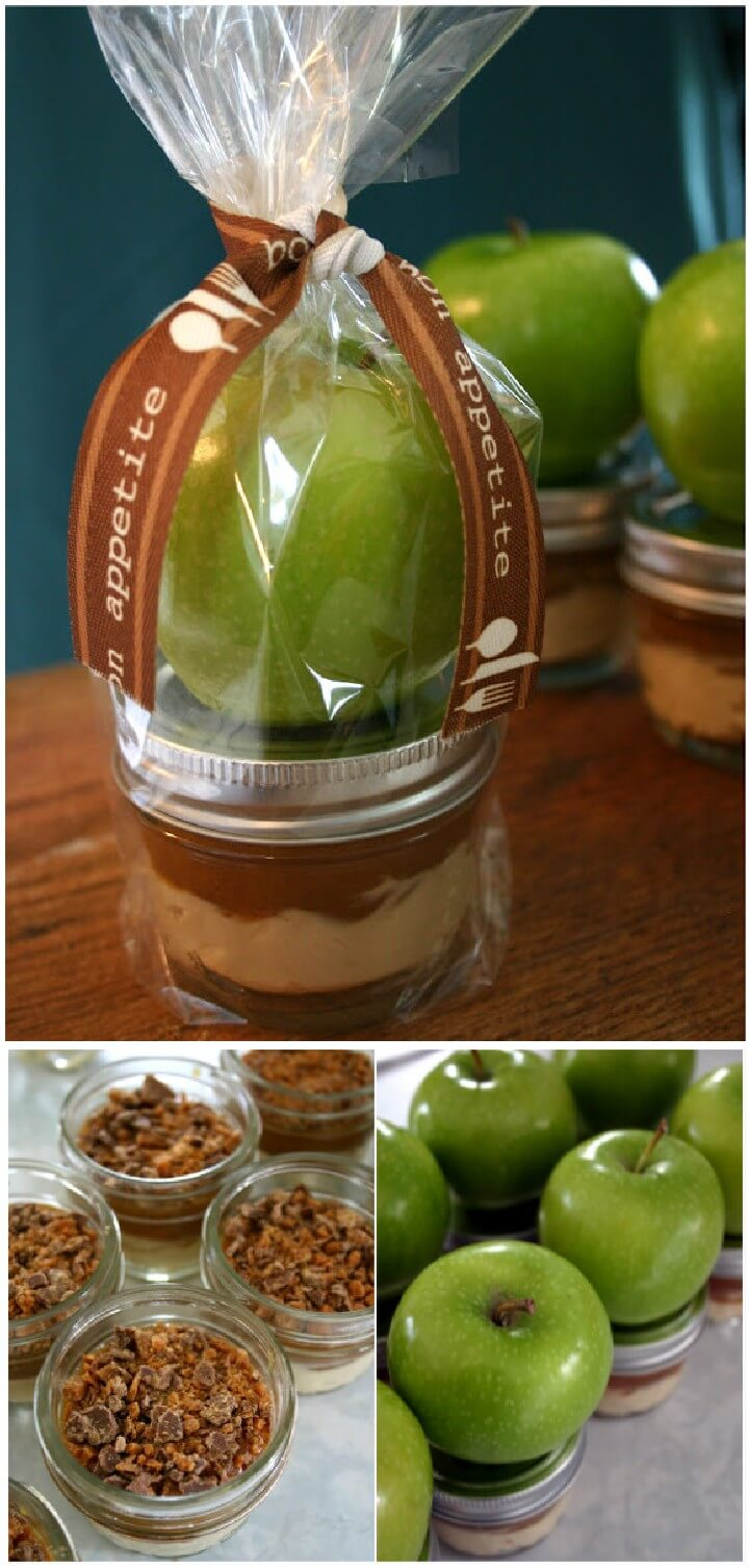 DIY Apple with Caramel Cream Cheese Dip Mason Jar Gift