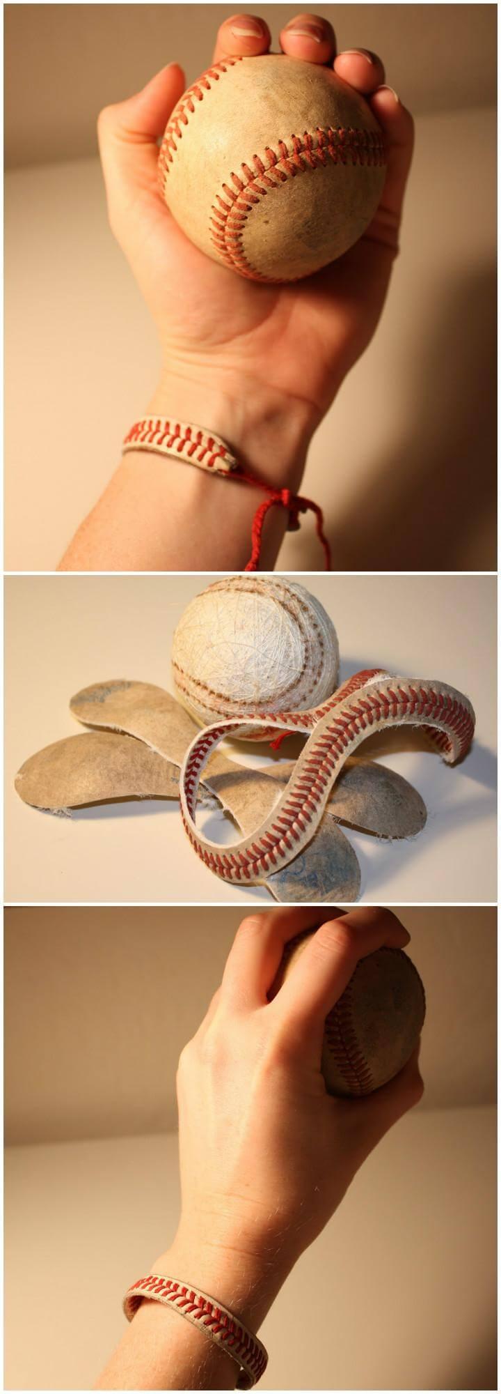 DIY Awesome Baseball String Bracelet