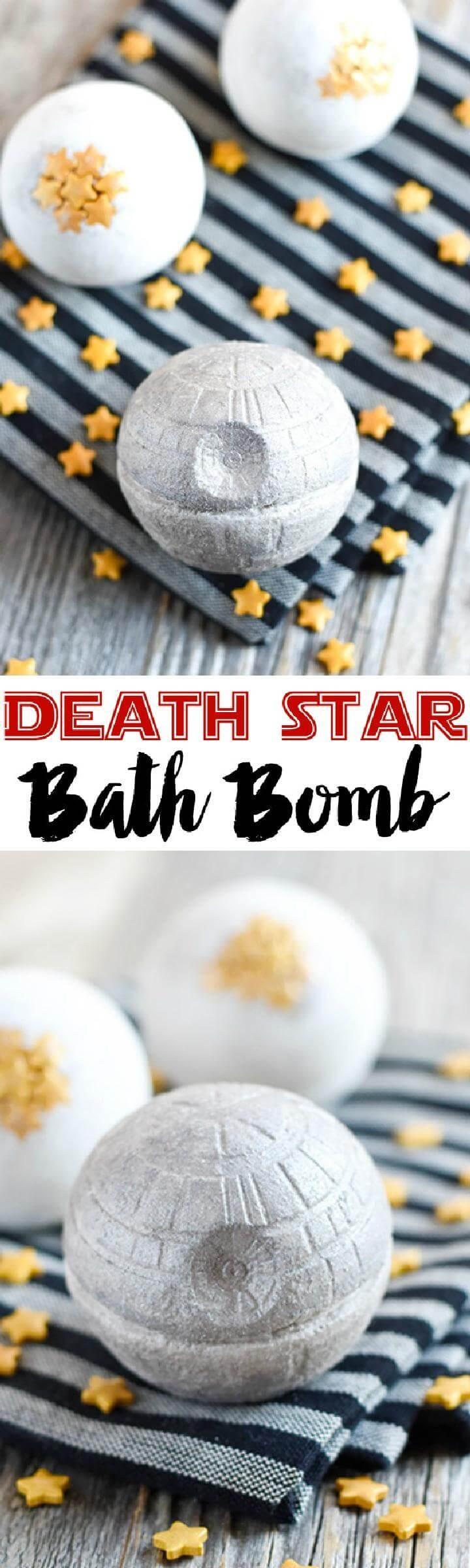 DIY Beautiful Death Star Bath Bomb