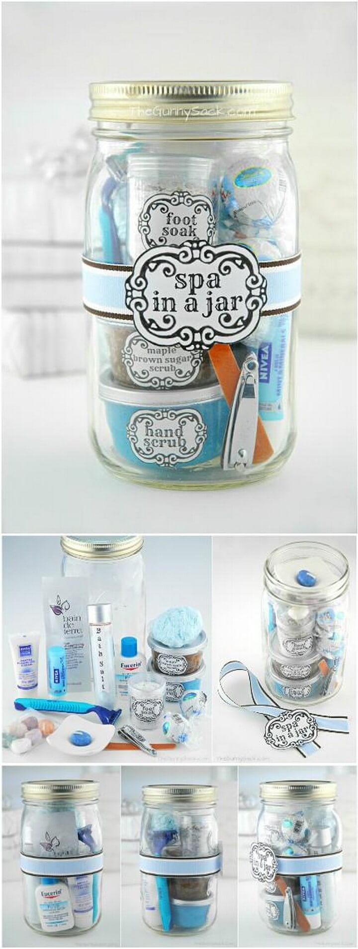 DIY Brilliant Mason Jar Spa Gift
