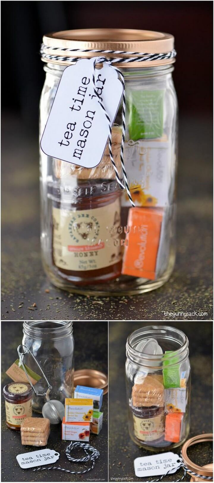 DIY Brilliant Tea Time Mason Jar Gift