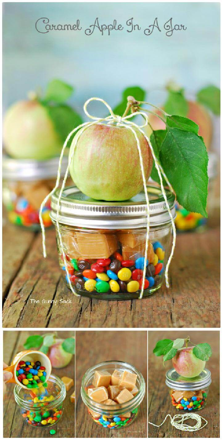 DIY Caramel Apple Mason Jar Gift Idea