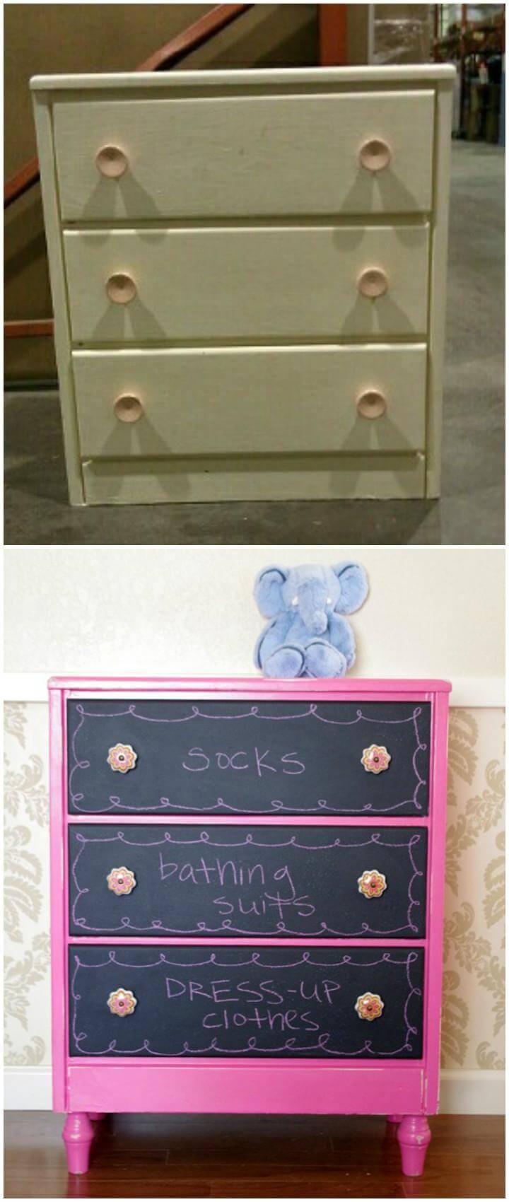 DIY Chalkpainted Dresser - Smart Furniture Transformation