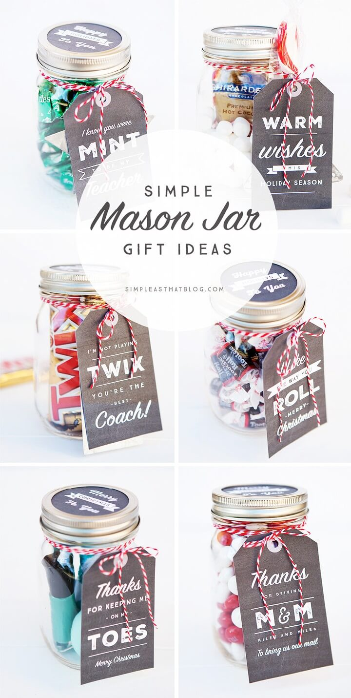 160 diy mason jar crafts and gift ideas page 11 of 17 for Super cheap gift ideas