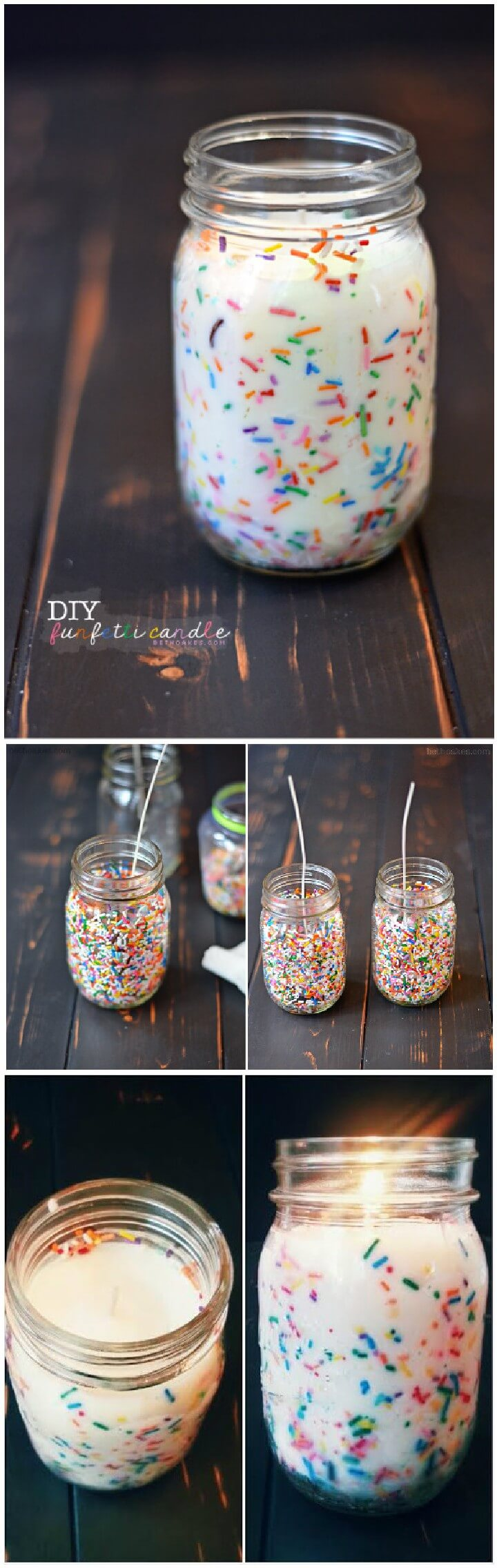 160 diy mason jar crafts and gift ideas page 7 of 17 for Mason jar candle crafts