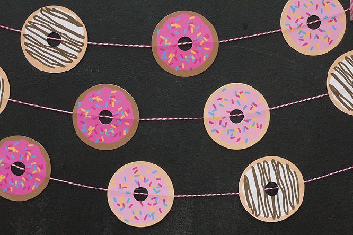 DIY Easy Donut Garland