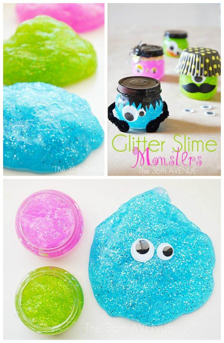 DIY Easy Glitter Slime