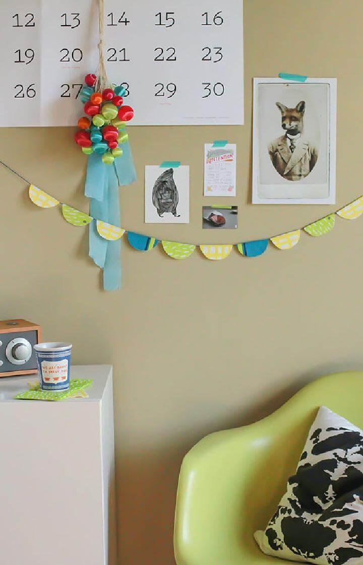 DIY Easy Paper Napkin Garland