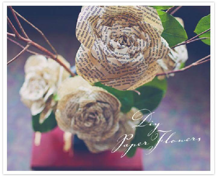 DIY Easy Storybook Paper Roses