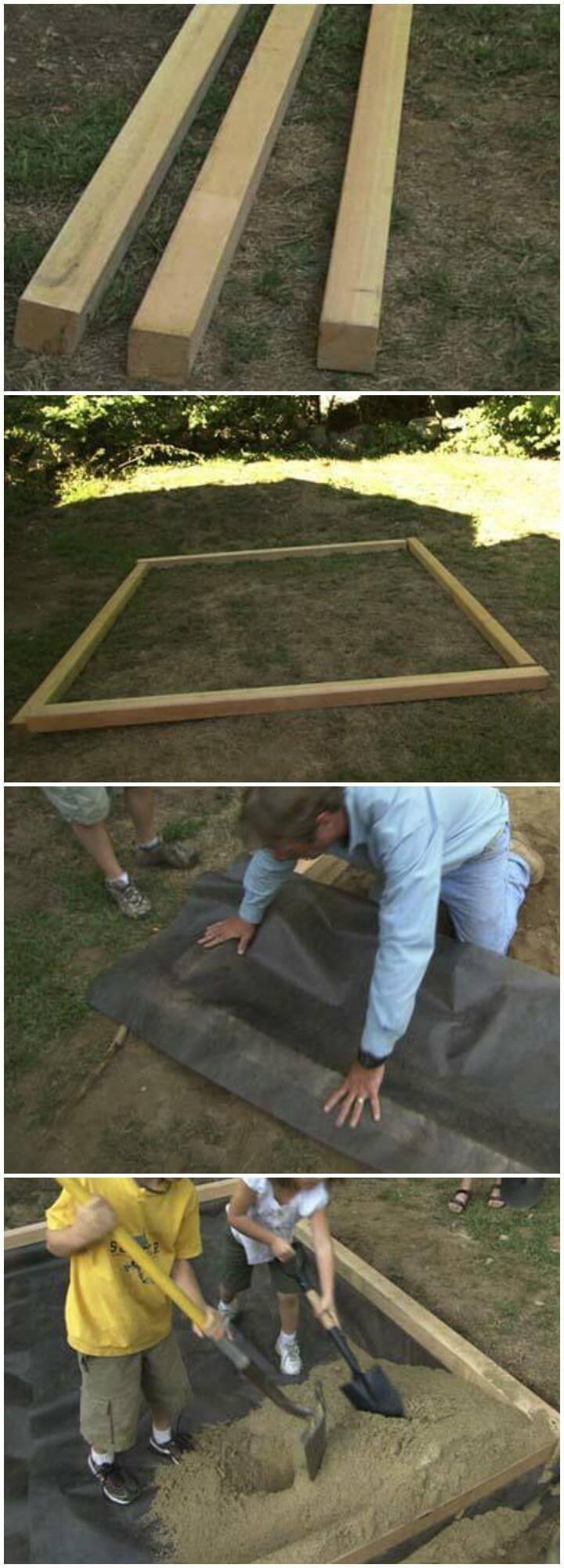 DIY Easy and Simple Sandbox