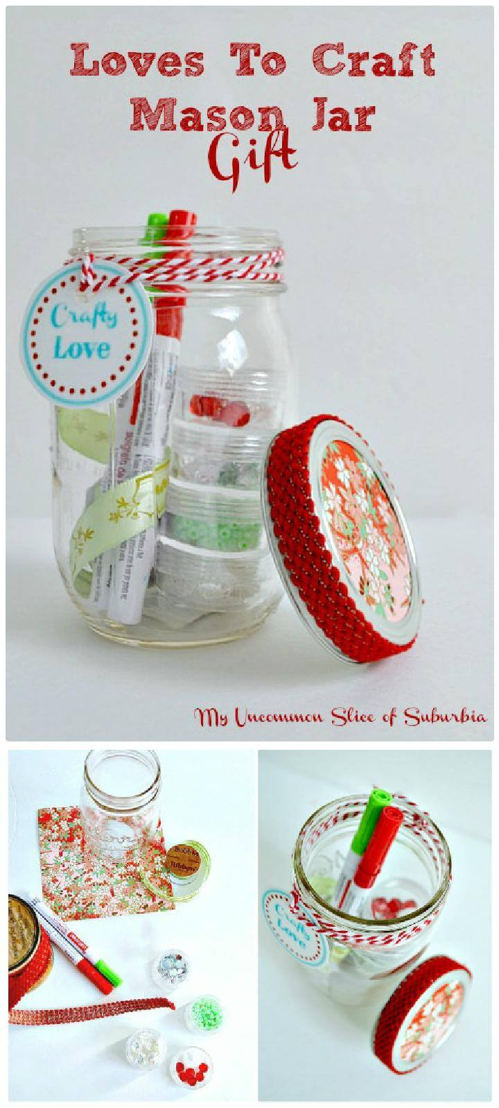 DIY Easy but Great Loves to Craft Mason Jar Gift