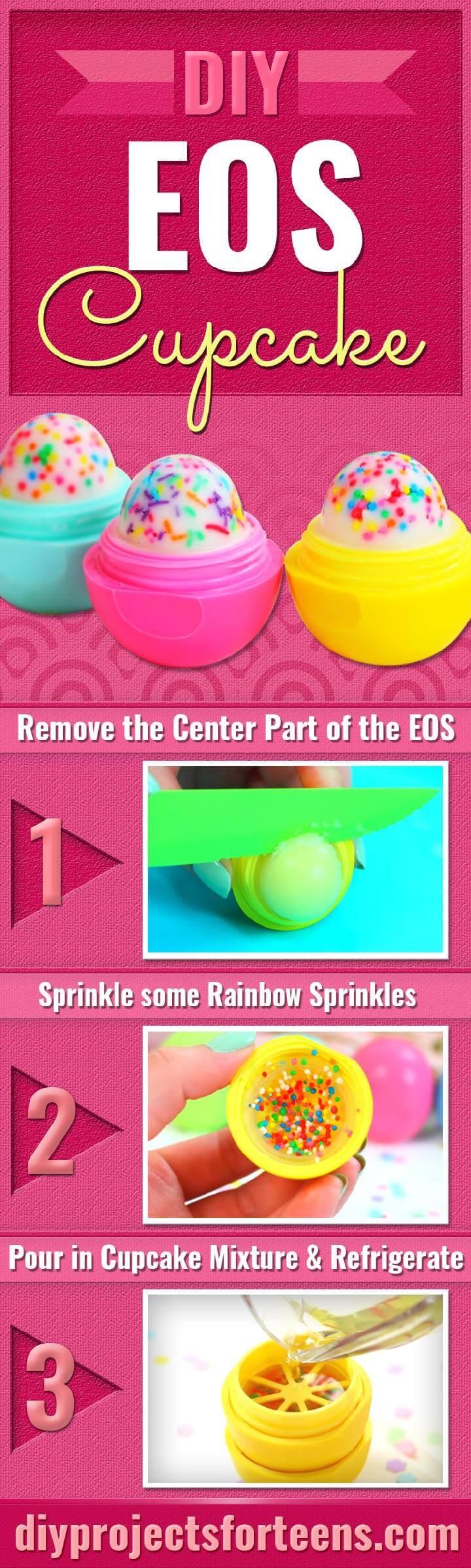 DIY Eos Lipbalm Cupcake Teen Craft