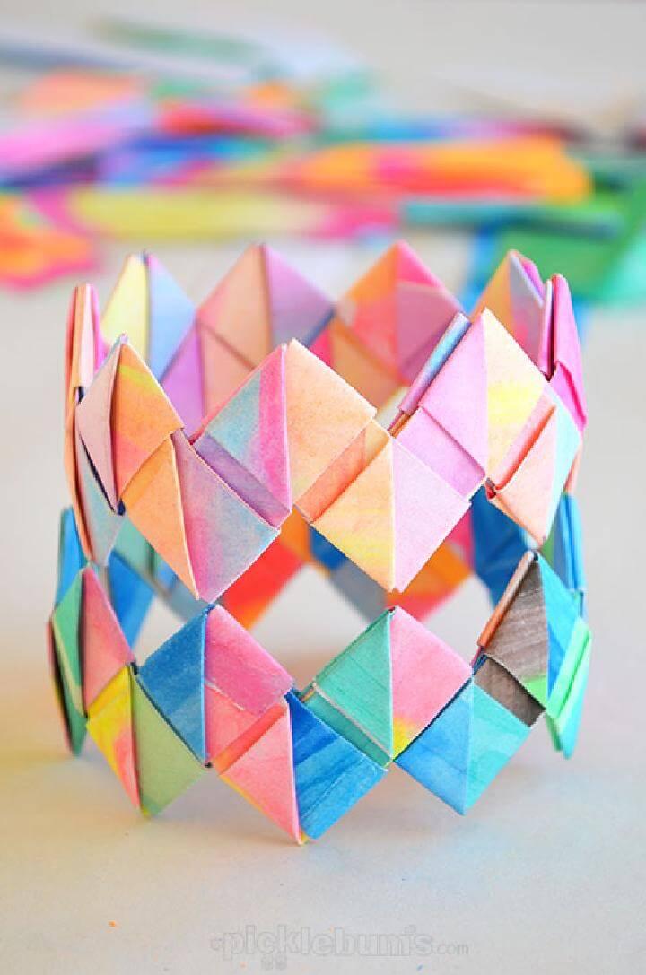 DIY Folded Paper Bracelets
