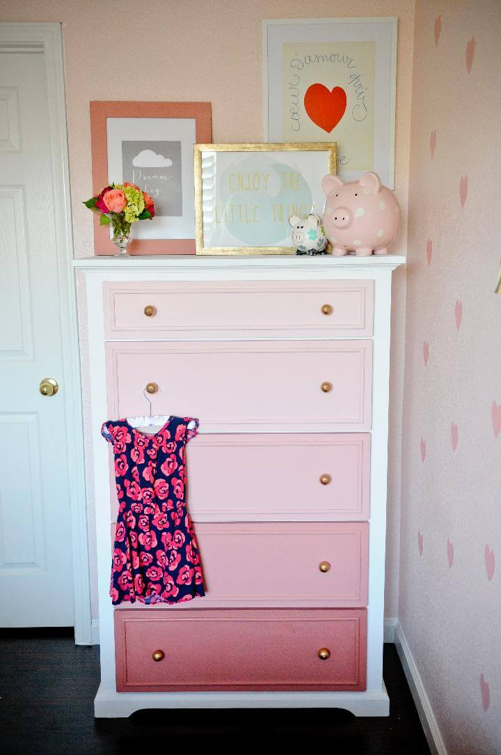 DIY Furniture Tranformation - Old Dresser into Ombre Masterpiece