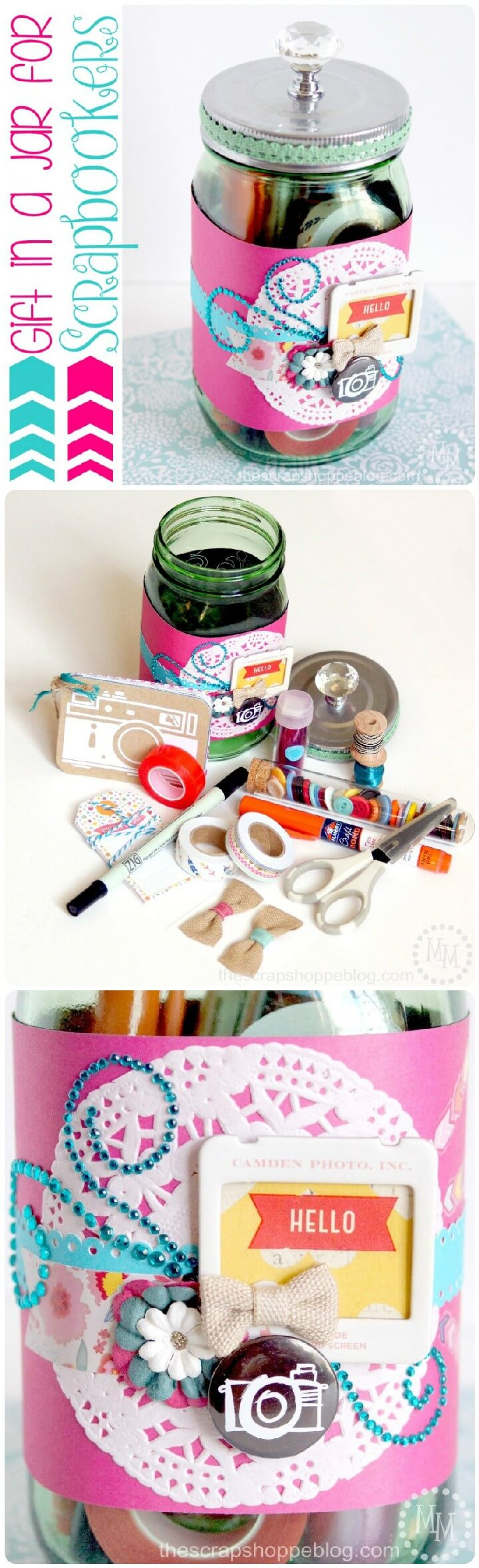 DIY Gift in a Mason Jar for Scrapbookers