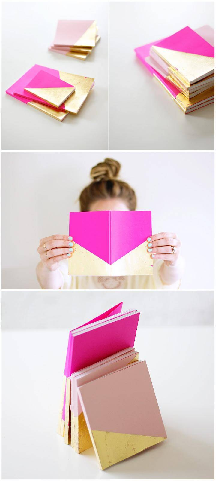 DIY Gold Dipped Notebooks
