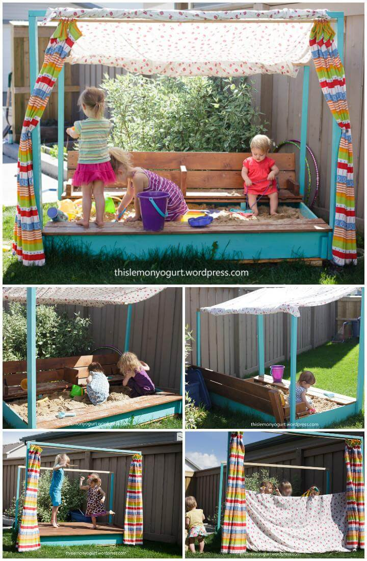 DIY Hand-Built Sandbox Plus Stage and Puppet Theatre
