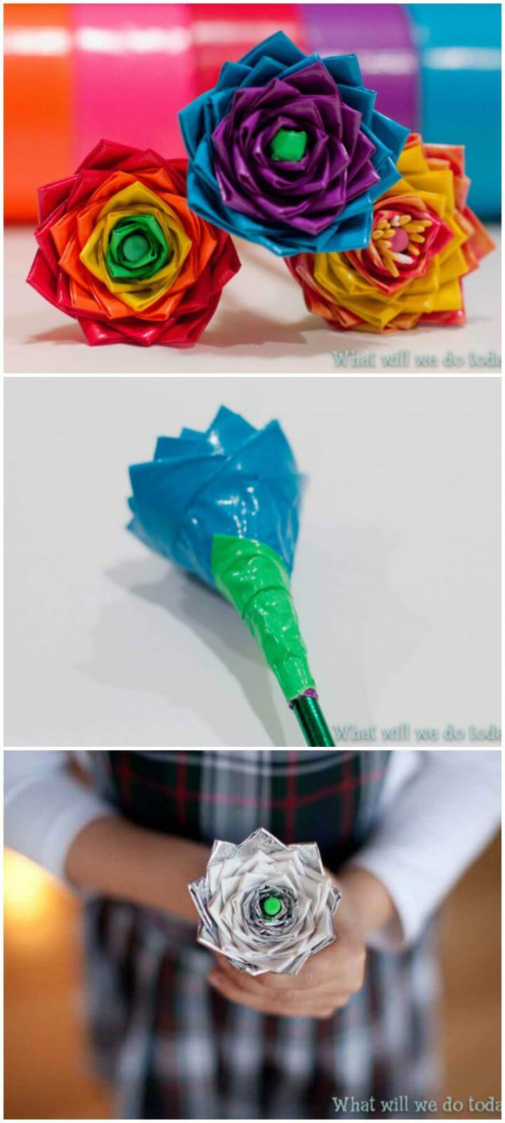 DIY Handcrafted Duct Tape Flowers