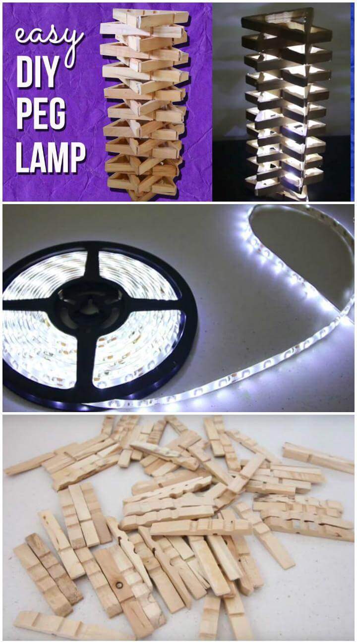 DIY Handcrafted Peg Lamp