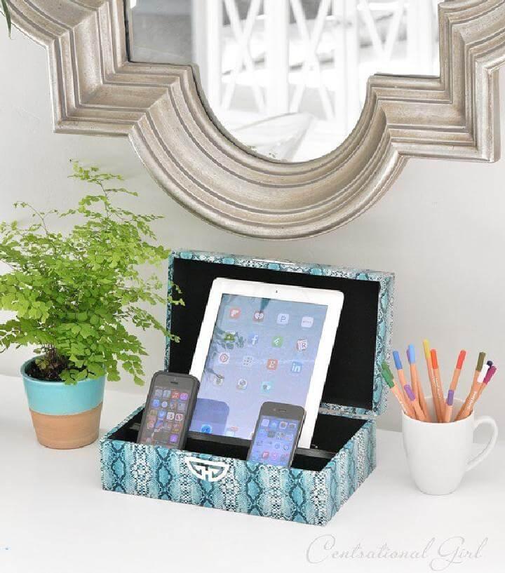 DIY Handmade Decorative Box Charging Station