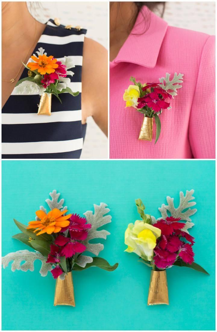 DIY Handmade Everyday Floral Brooch