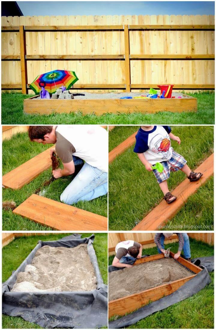 DIY Handmade Wooden Sandbox or Babysitter