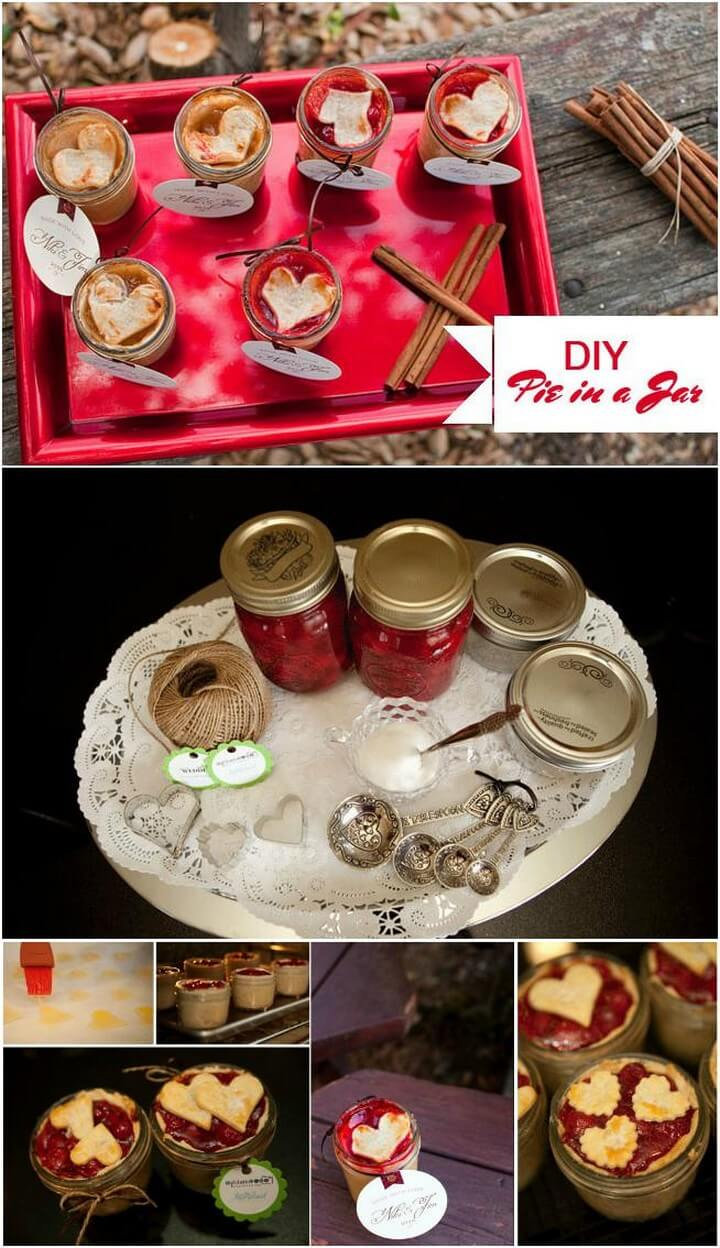 DIY Heart Pie in a Jar Treats