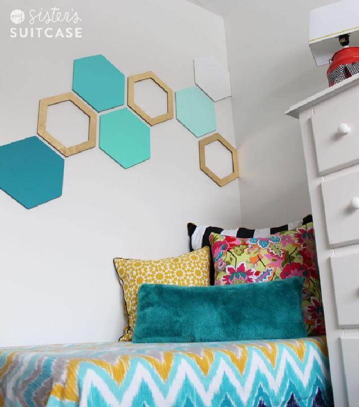 DIY Hexagone Geometrical Wall Art