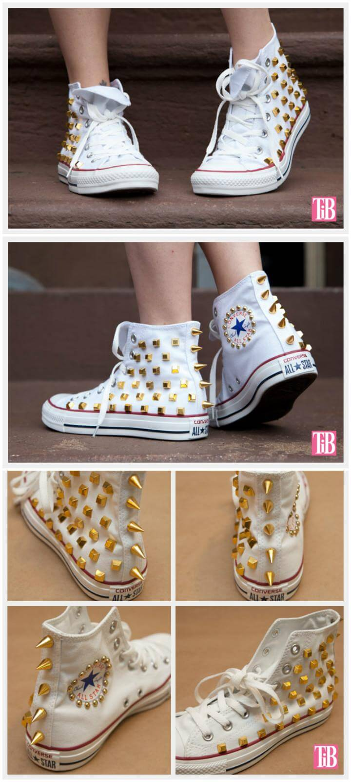 DIY Home Updated Studded Converse