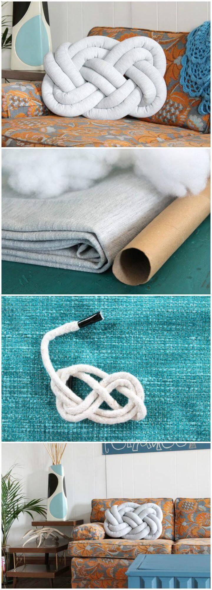 DIY Homemade Knot Pillow