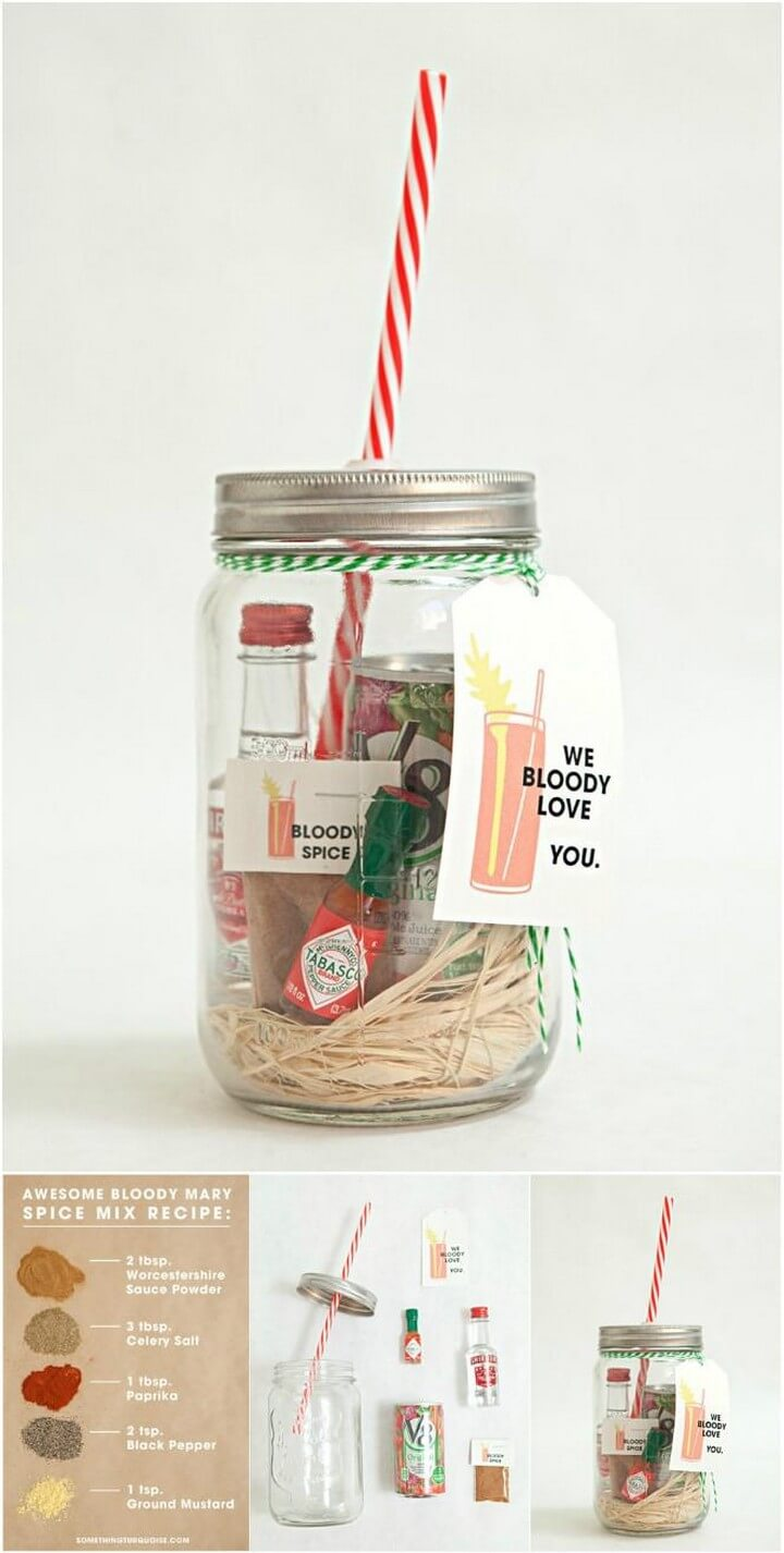 DIY Homemade Mason Jar Bloody Mary Gift and Spice Recipe