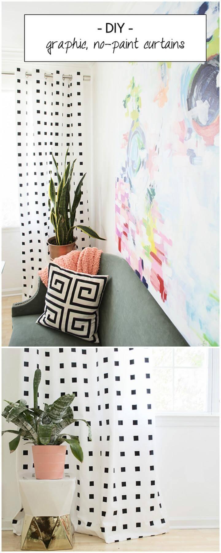 DIY Homemade No-Paint Curtains