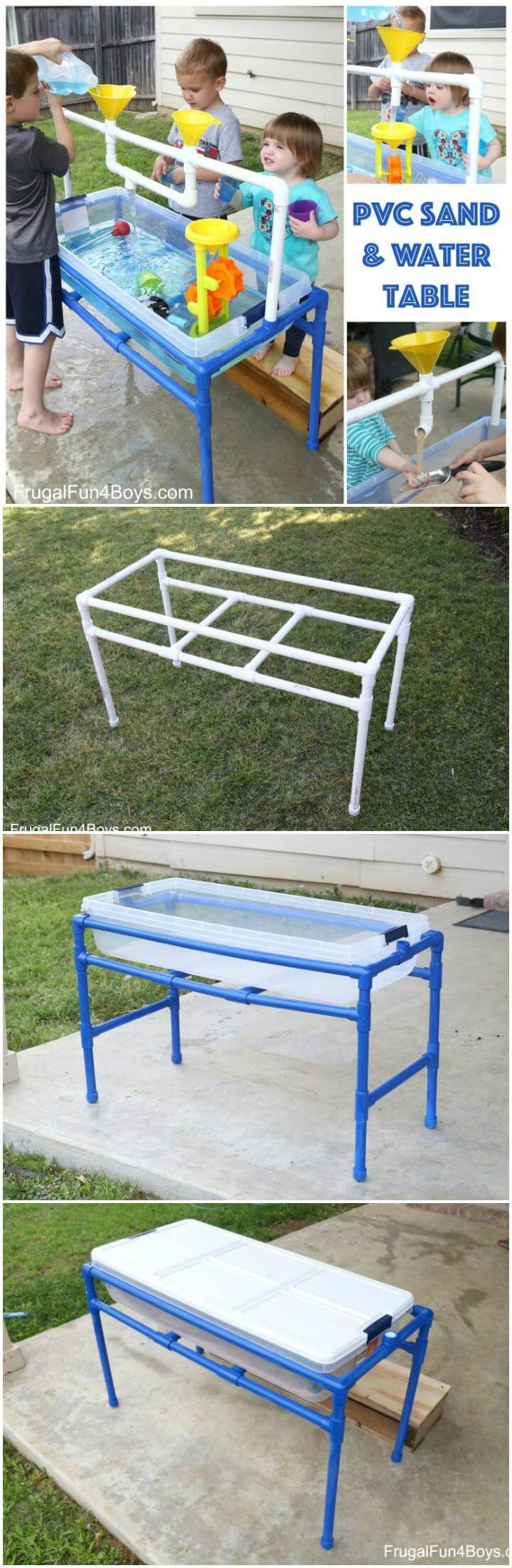 60 diy sandbox ideas and projects for kids page 2 of 10 for Diy sand and water table pvc