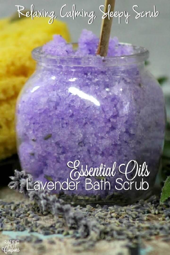 DIY Lavender Bath Scrub