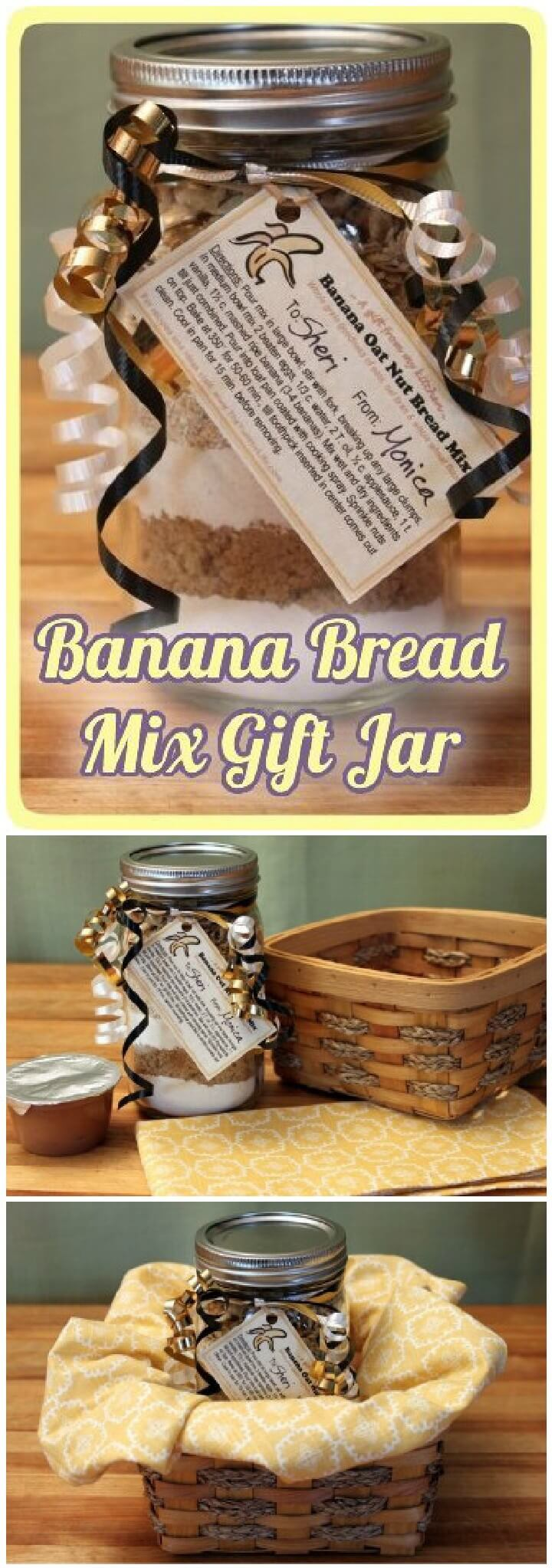 DIY Mason Jar Banana Bread Mix Gift
