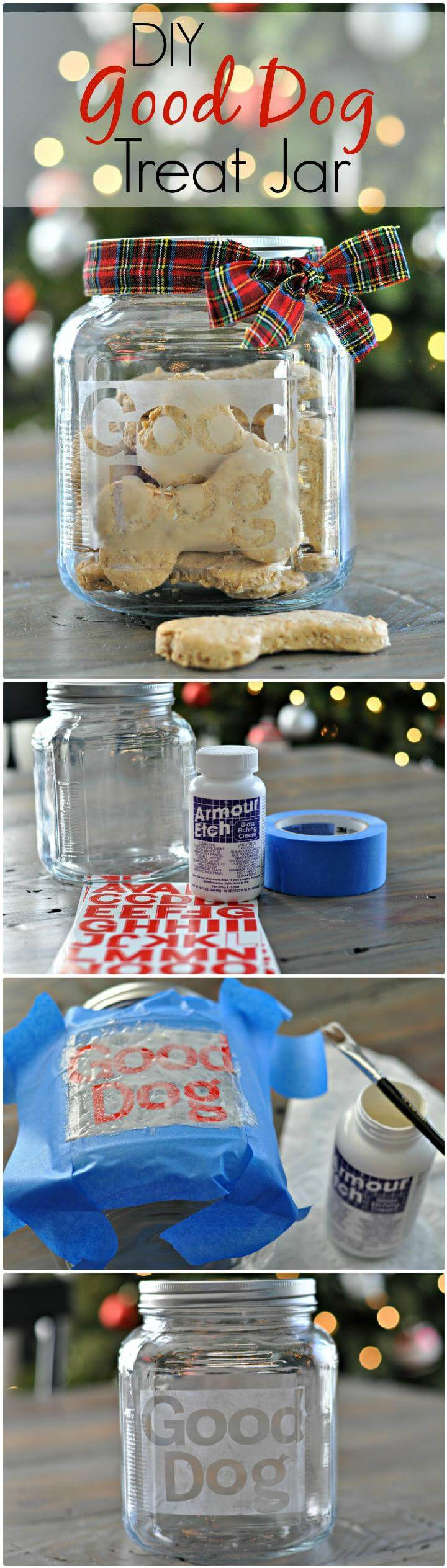 DIY Mason Jar Good Dog Treat Gift