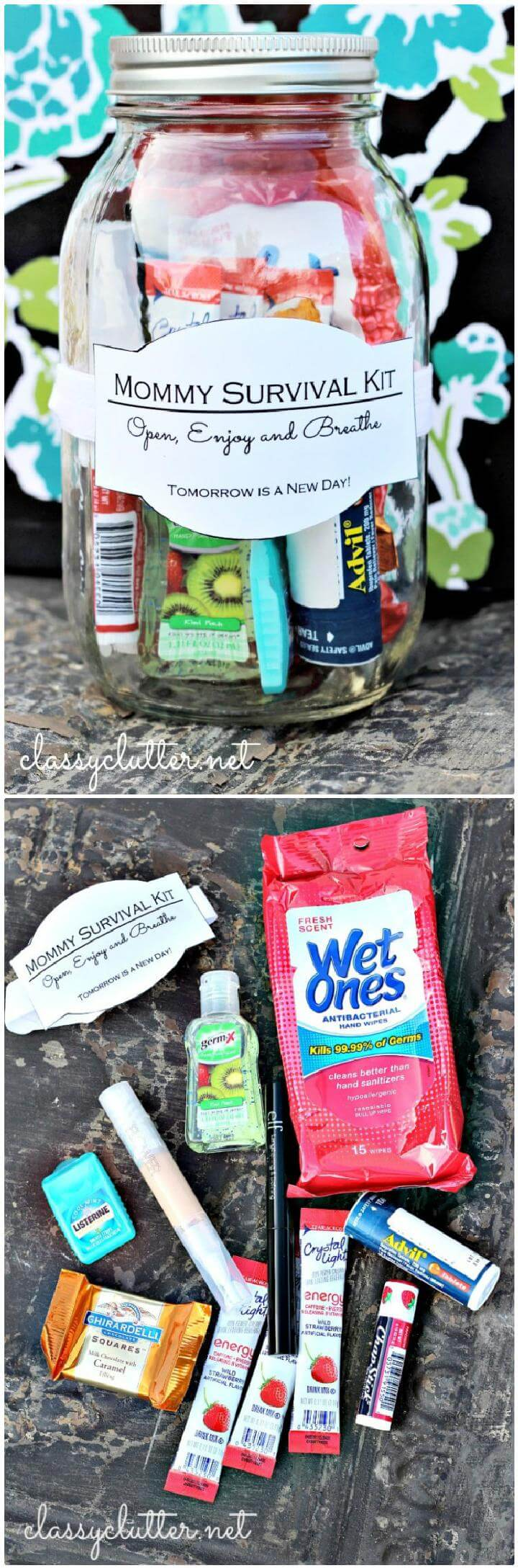 DIY Mason Jar Mommy Survival Kit Gift