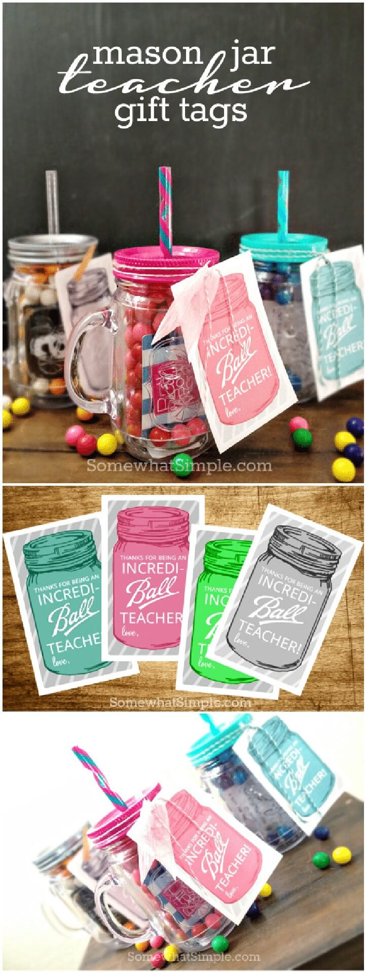 DIY Mason Jar Teacher Gifts
