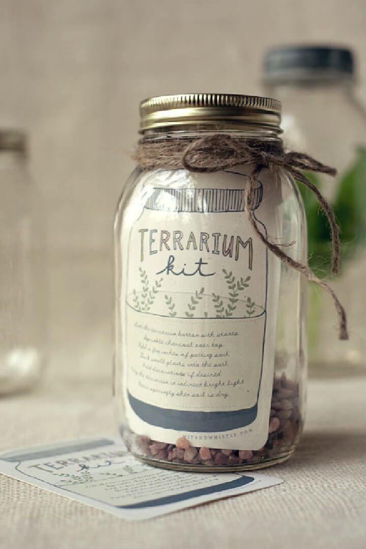 DIY Mason Jar Terrarium Kit Gift