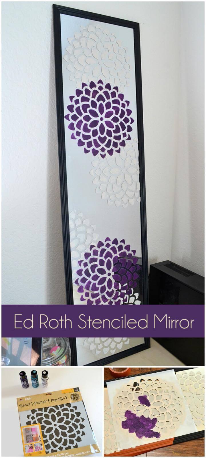 DIY Modern Ed Roth Stenciled Mirror