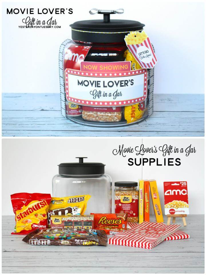 DIY Movie Lover's Mason Jar Gift