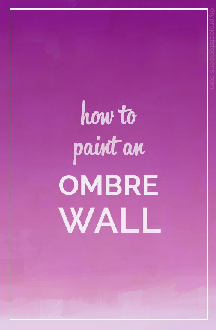 DIY Ombre Wall Painting