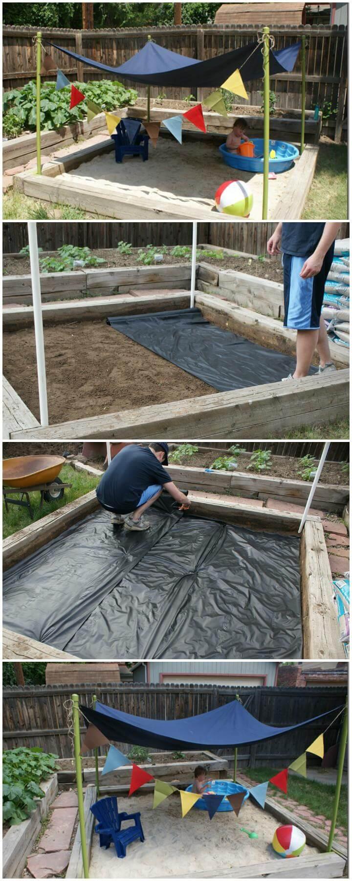 DIY Self-Made Backyard Kids Beach