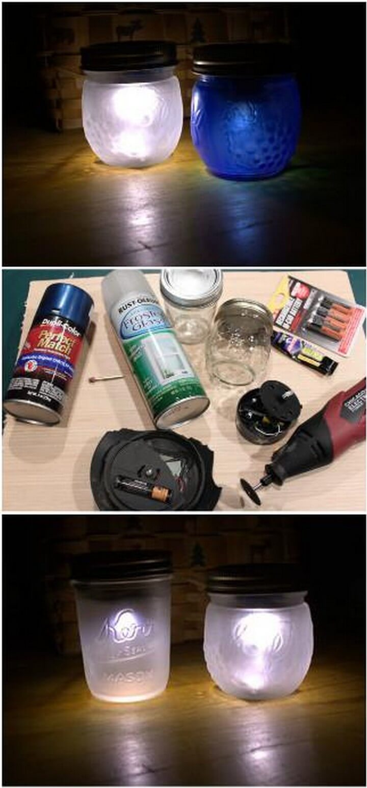 DIY Self-Made Solar Powered Mason Jar Nightlight Gifts