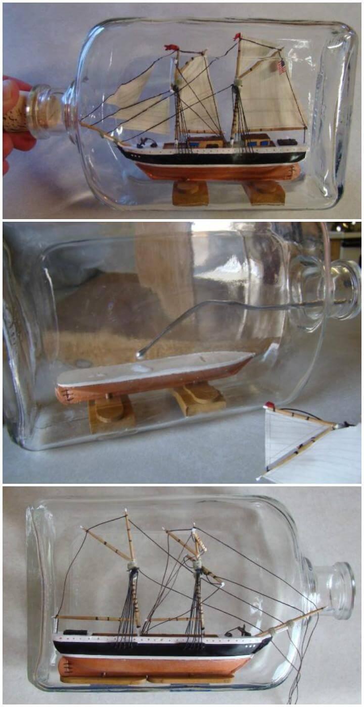 DIY Ship in a Bottle Tutorial