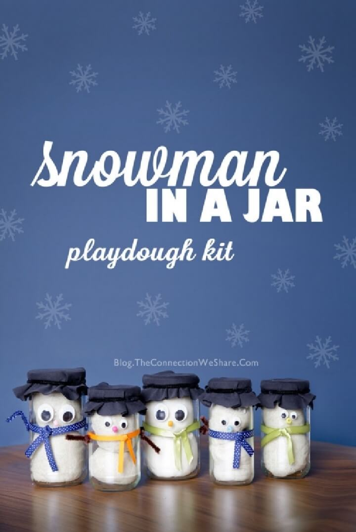 DIY Snowman in Mason Jar Gifts